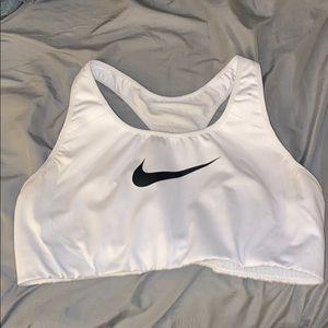 white large nike sports bra